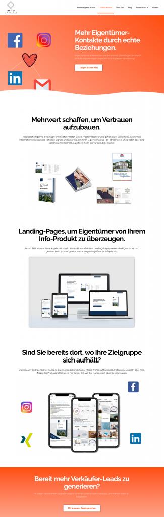 Homepage für Immobilienmakler Landing Page